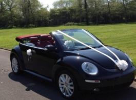 Convertible VW Beetle wedding car in Swindon